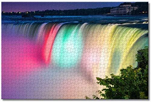 Nicoole USA America Niagara Falls NY Rompecabezas para adultos Niños Juego de rompecabezas de madera de 1000 piezas para regalos Decoración del hogar Recuerdos especiales de viaje