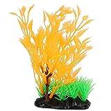 Salaty Hierba de Agua, Hierba de Agua Artificial, Paisaje de Acuario de Plantas Altas para Plantas de decoración de peceras de Acuario(Orange Water Plants)
