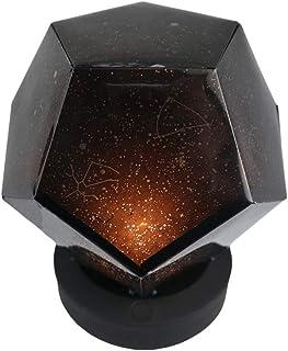 Mobestech Proyección Luz de noche Estrella giratoria Proyector Constelación Lámpara de proyección estrellada Lámpara de cielo de carga USB (luz amarilla)