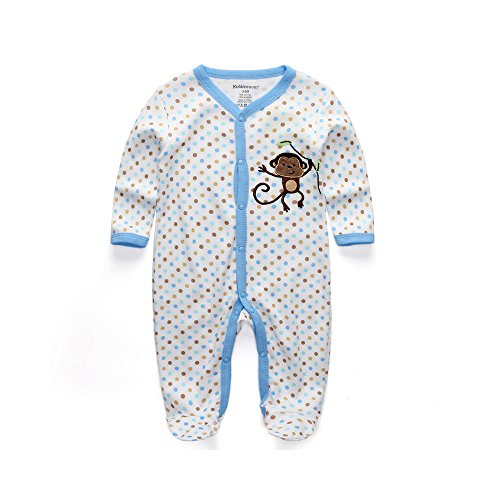 kiddiezoom Baby Boy Strampelanzug Schlafanzug Outfit Infant Body Nachtwäsche Little Monkey Hosenkleid Babe Jumpsuits Innocent Kleidung