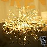 Salcar Luces decorativas de cobre 20m 200 LED, Fuente de alimentación de seguridad, luces LED para...
