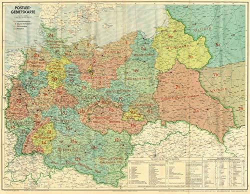 Großdeutsches Reich - Postleit-Gebietskarte, März 1944