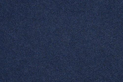 Teppichboden Nadelvlies Kurzflorteppich Bodenbelag Uni anthrazit blau 400 x 200 cm. Weitere Farben und Größen verfügbar