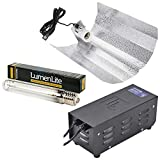 gardeners corner Hydroponics 600w HPS Grow Light Full Kit with Metal Vented Ballast Bulb Shade