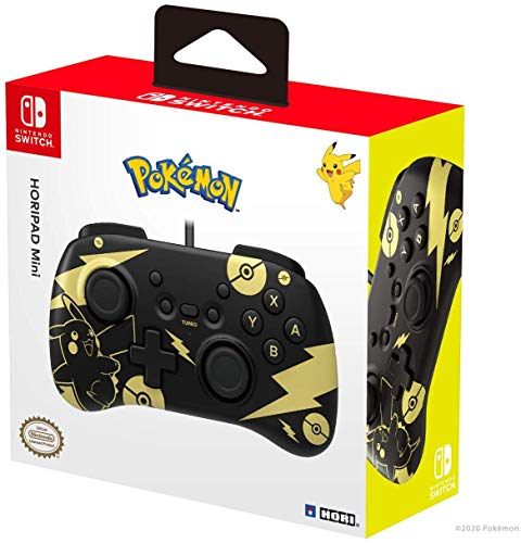 HORI - Mando HORIPAD Mini Pikachu Black & Gold (Nintendo Switch)