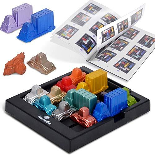 Bestlle Rush Hour Traffic Jam Juego de lógica, Educational Traffic Jam Juego de Rompecabezas Juguetes Puzzle Board Challenge Game Juego de Estrategia para 2 Jugadores Entrenamiento Cerebral Juguete