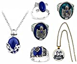 The Vampire Diaries Katherine Daywalking Pendant Necklaces and Elena Carolines Damon Stefan Daylight Ring Complete set With Damon and Stefan Time Gem Necklace Glass Pentant