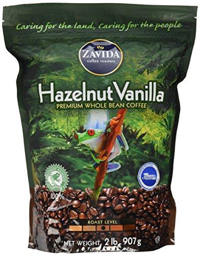 Zavida Hazelnut Vanilla Whole Bean (32 OZ), 32 Ounce, 2 Pound (Pack of 1)