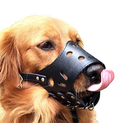 GuangLiu Maulkorb Für Große Hunde Giftköder Schutznetz Hunde Maulkorb Für Große Hunde Hund Maulkorb Kleine Maulkorb Für Kleine Hund Maulkörbe Zu Verhindern Beißen Black,XL
