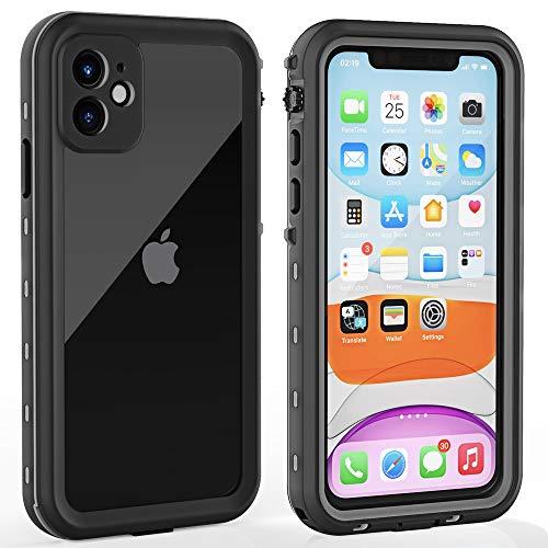 iPhone 11 Waterproof Case with Screen Protector Full Body Protector Shockproof Dustproof Dirtproof Heavy Duty IP68 Waterproof Case for iPhone 11(6.1inch) (Clear)