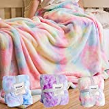 STAOLENE Faux Fur Throw Blankets, Comfy Rainbow Soft Fuzzy Fall Throw Blanket Decorative Throw Blankets for Sofa Floor Couch Bed Living Room (Light Pink, 51' x 63')
