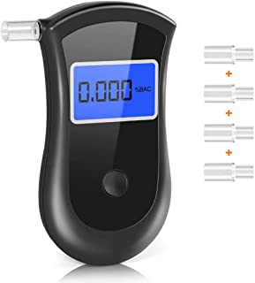 Probador digital de alcohol en aliento con alerta audible Conducci/ón segura con llavero Detector de alcohol de respuesta r/ápida Alcohol/ímetro