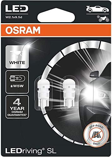 OSRAM LED Premium Retrofit W2.1x9.5d, LED-W5W, illuminazione per interni, 2850CW-02B, Cool White (6.000 K), 12V PKW, Catbus, blister doppio (2 pezzi)