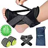 SPISODY Night Splint for Plantar Fasciitis - Foot Drop Orthotic Brace - Heel, Ankle & Achilles Tendonitis Relief, Arch Pain Support - Universal Fit - Women & Men
