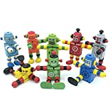 Alikeke 6 Pcs Newest Creative Personality Building Blocks Toys Early Educational Toys Wooden...