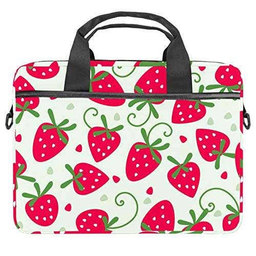 Red Sweety Strawberry Pattern 2021 Laptop Bag 22 inch Business Computer Laptop Case Laptop Sleeve Shoulder Messenger Bag Tablet Carrying Case for Women and Men