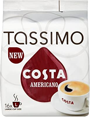 Tassimo Costa Americano Pack Of 4, 4X16 T-Discs