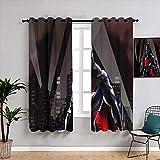 Matt Flowe batman Beyond - Tende oscuranti termiche, larghezza 63 x lunghezza 72 cm, oscuranti, per camera dei ragazzi e delle ragazze