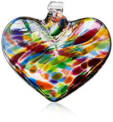 Kitras Glass multi-color heart
