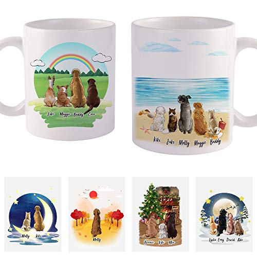 Available in Over 90 Breeds! Merry Christmas With Dog and Christmas Tree Mug