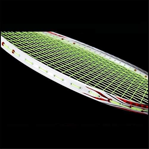Raqueta de Badminton Ultra ligero de fibra de carbono bádminton raqueta profesional de fibra de carbono raqueta de bádminton cadena con bolsa de bádminton y agarre de tenis para Juegos de Bádminton
