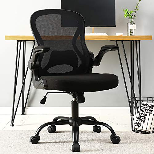 BERLMAN Ergonomic Mid Back Mesh Office Chair Desk Chair with...
