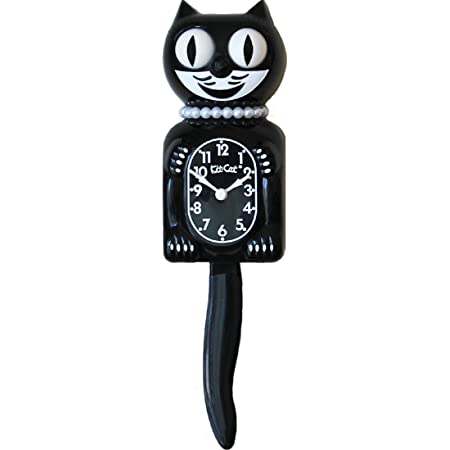 """CLASSIC BLACK KIT CAT CLOCK 15.5/"""" Free Battery MADE IN USA Official Klock NEW"""
