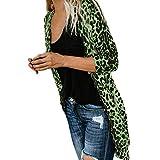 Chaquetas Largas Anchas otoño para Mujer,PAOLIAN Chaquetas de Punto Cárdigans Rebajas Elegantes Tallas Grandes Señora Moda Invierno Abrigos Acolchado Caliente Estampado Leopardo