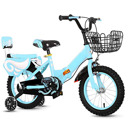 Kids Bikes CHUNLAN Foldable Children Bicycle 3 5 9 Years Old 14 16 18 Inches Boy Girls Flash Training Wheel Mountain Tire With Basket Ultralight Frame(Size:18in,Color:blue)