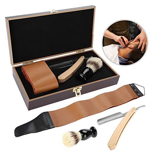 Afeitadora Peluquería, Juego de maquinillas de afeitar de 3 piezas/set, Juego de regalo de afeitado perfecto para hombres jóvenes y maduros - Caja de regalo de caja de madera