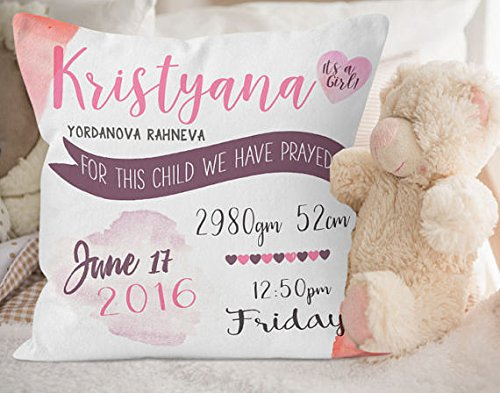 Nursery Decor, Nursery Throw Pillow, Baby Gift, Pillow for Nursery, Baby Girl Nursery Decor, Baby Gifts, Kids Bedroom Decor, New Baby Gift