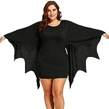 BeautyGal Rose GAL Women's Halloween Costume Dress Plus Size Bat Wings Dolman Sleeve Party Dresses