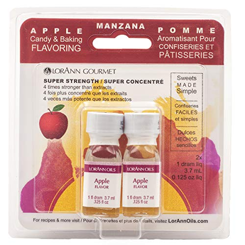 Lorann Oils Candy and Baking Flavoring Bottle (2/ Pack), .125 Ounce, Apple
