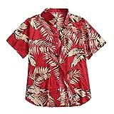 Camisa Hawaiana para Hombre Camisas Hawaianas para Hombres Camisas con Botones HawaianosTops conEstampado De Flores De SolCasual Secado Rápido Manga Corta Fiesta De Vacaciones De Verano C