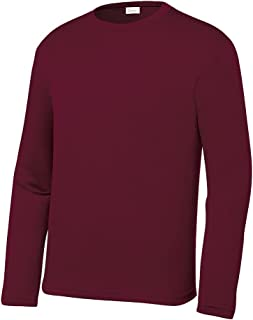 Youth Athletic Performance Long Sleeve Shirts for Boy's or Girl's – Moisture Wicking