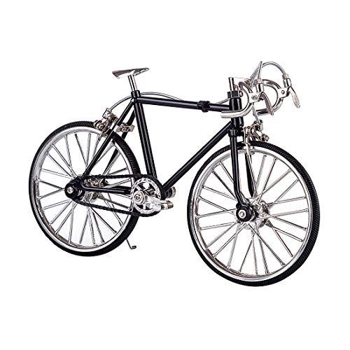 MOEGEN Puzzle Meccanico 3D in Metallo, Bicicletta Modellismo Giochi di Costruzione Kit per Adulti & Bambini per Domestico Ornamenti - FS-0041 Nero