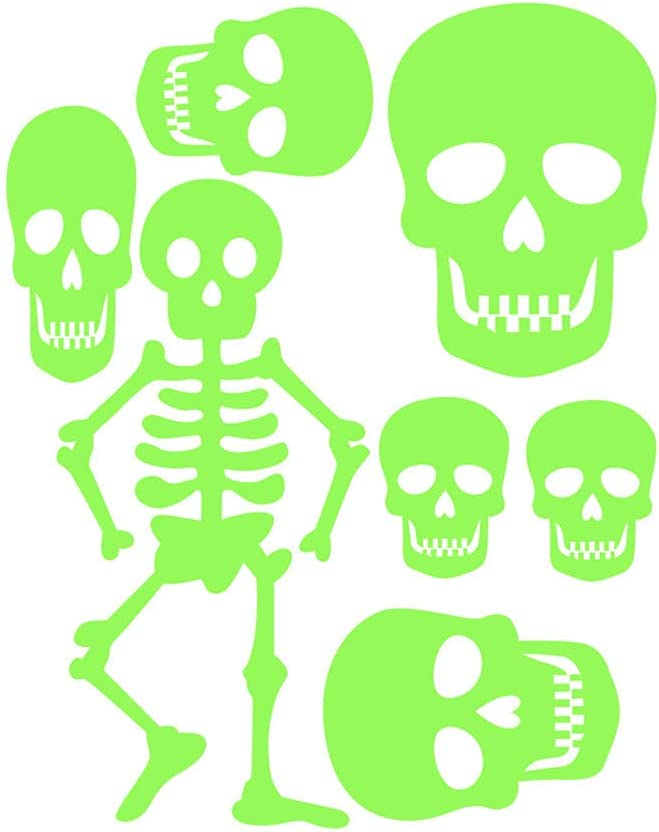 MICKYMIN Skull Halloween Glow in Fort Worth Mall Luminous Sale Special Price Wall Dark The Stickers