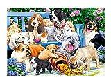 Brandsseller Puzle de 1000 piezas, diseño de perros en el jardín