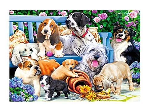Brandsseller Puzzle - Hunde im Garten 1000 Teile