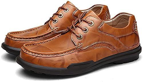 La mode masculine décontracté des chaussures en cuir chaussures chaussures lace cycle mode mode match angleterre,marron,Forty,