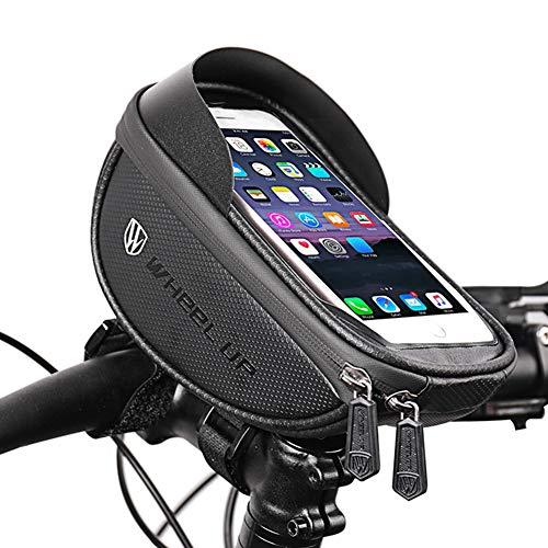 Bolsa Bicicleta Manillar Impermeable para Ciclista Ciclismo, Soporte Telefono Móvil,con Pantalla Táctil para Teléfono Inteligente por Debajo de 6.2 Pulgadas