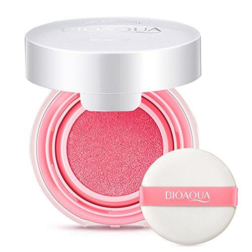 Blush Cream, Matte Blush, Make up Air Natural Blush Creme Blusher Long Lasting BB Creme Paste Nude Make-up Rouge Creme mit Schwamm Puderquaste und Extra Inner Container Foundation (Pfirsich Pink)
