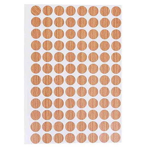 CLISPEED 96 unidades/hoja impermeable con agujeros para tornillos y agujeros antideslizantes, tapones de tornillo, 15 mm, adhesivos decorativos (001)