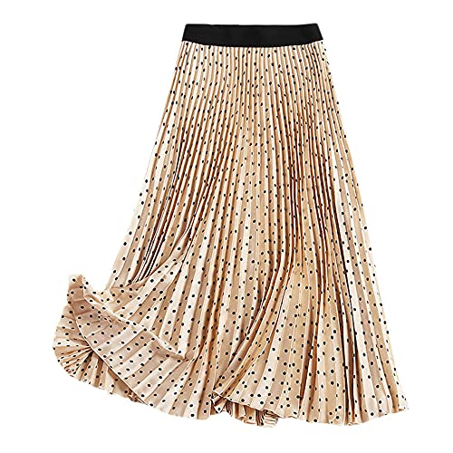 Ubrania Damskie Damskie Letnie Plisowane Spódnice W Talii Vintage Wąska Długa Spódnica-As_Shown_1_M