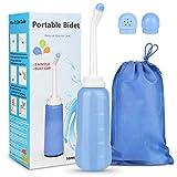 Mitening Tragbare Bidet, Reise Handheld Bidet Flasche Sprühflasche für Damen Mann Kinder Schwangere Körperpflege Körperhygiene (500ML)*