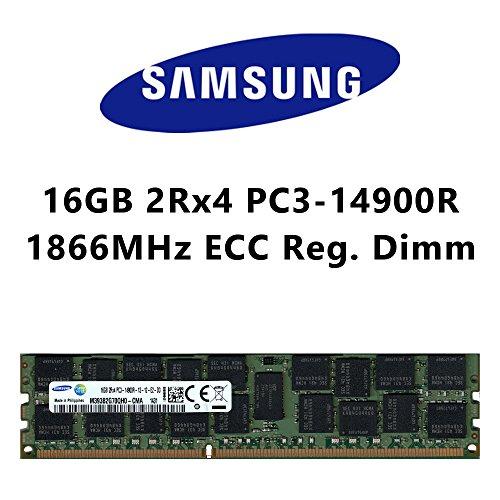 Samsung 16GB (1x 16GB) DDR3 1866MHz (PC3 14900R) 2Rx4 ECC Registered Dimm MacPro Server Workstation Arbeitsspeicher RAM Memory