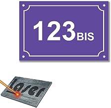 Mygoodprice Naambordje met gravure, zelfklevend, 15 x 10 cm, violet