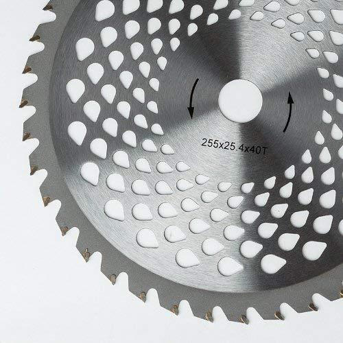 Kreissägeblatt, extra hartes Metall, mit 40 Zähnen, für Motorsense und Rasenmäher