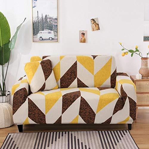 Funda de sofá,Funda elástica para sofá Totalmente elástica para Sala de Estar,Protector de Muebles para sillón-C 2 plazas 145-185 cm y 3 plazas 190-230cm 2PCS