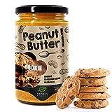 Manteca de cacahuete con galleta 100% orgánica y sabrosa | 350g | Sin azúcar añadido, sin aceite de palma | Crujiente tostado original | Fácil de digerir | Enriquecida con proteínas veganas